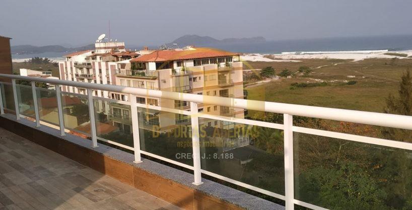 Excelente Cobertura Duplex Vista Mar primeira locação 15