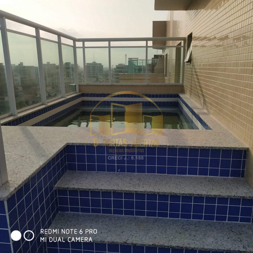 Excelente Cobertura Duplex Vista Mar primeira locação